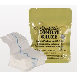 Z-Fold Vacuum Packed QuikClot Combat Gauze